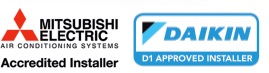 Mitsubishi and Dakin Approved Installers